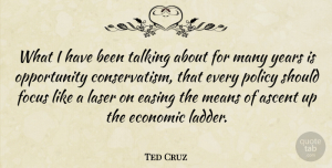 Ted Cruz Quote About Ascent, Easing, Means, Opportunity, Policy: What I Have Been Talking...