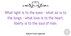 Stars Quotes, Robert Green Ingersoll Quote About Love, Motivational, Stars: What Light Is To The...
