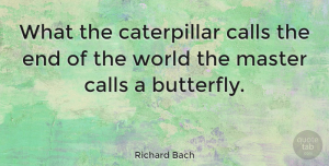 Change Quotes, Richard Bach Quote About Inspirational, Change, Inspiring: What The Caterpillar Calls The...