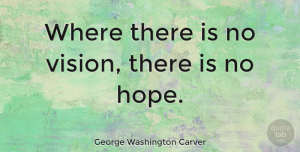 Leadership Quotes, George Washington Carver Quote About Inspirational, Leadership, Hope: Where There Is No Vision...