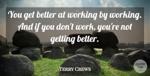 Terry Crews Quote About Get Better, Ifs: You Get Better At Working...