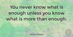 Wisdom Quotes, William Blake Quote About Wisdom, Knowledge, Thought Provoking: You Never Know What Is...
